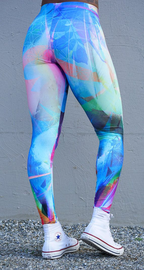 Mint & Chopsticks Life in Color Leggings  Mint & Chopsticks Liquid Dreams Leggings  Made with an 12% spandex & 88% high quality spandex microfibre. We take pride in how our leggings are manufactured! Everything from our fabrics to our manufacturing - its all made in Canada. We use EcoPoly fabrics which require significantly less energy and water use during manufacturing. The fabric is medium weight and study, yet breathable. It stretches to fit your body, hugs in all the right pla...
