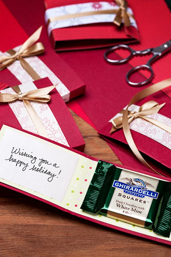 Whether you use them to say Thank You, Happy Holidays, or as place-settings on your festive table, our Ghirardelli Chocolate Cards are sure to draw a sweet smile from your family & friends.