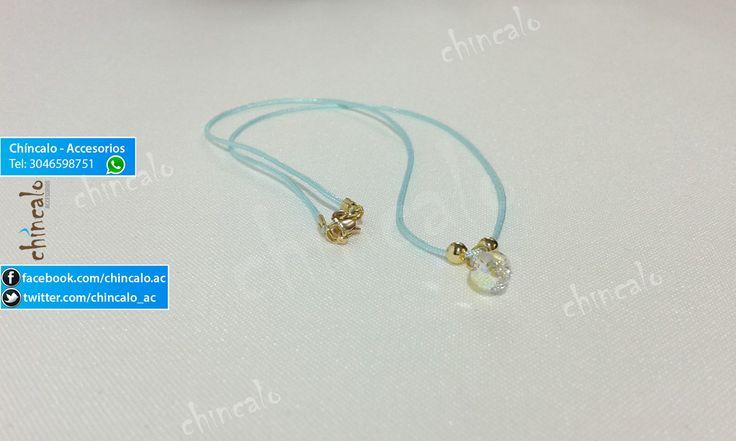 Collar Referencia: coll4 Valor: $6.000 Para: Mujer o Niña Material: Cordón, oro Goldfield y lágrima tornasol Cuidados: No mojar y evitar el contacto con perfumes