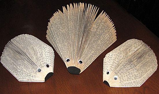 egel vouwen uit een boek
