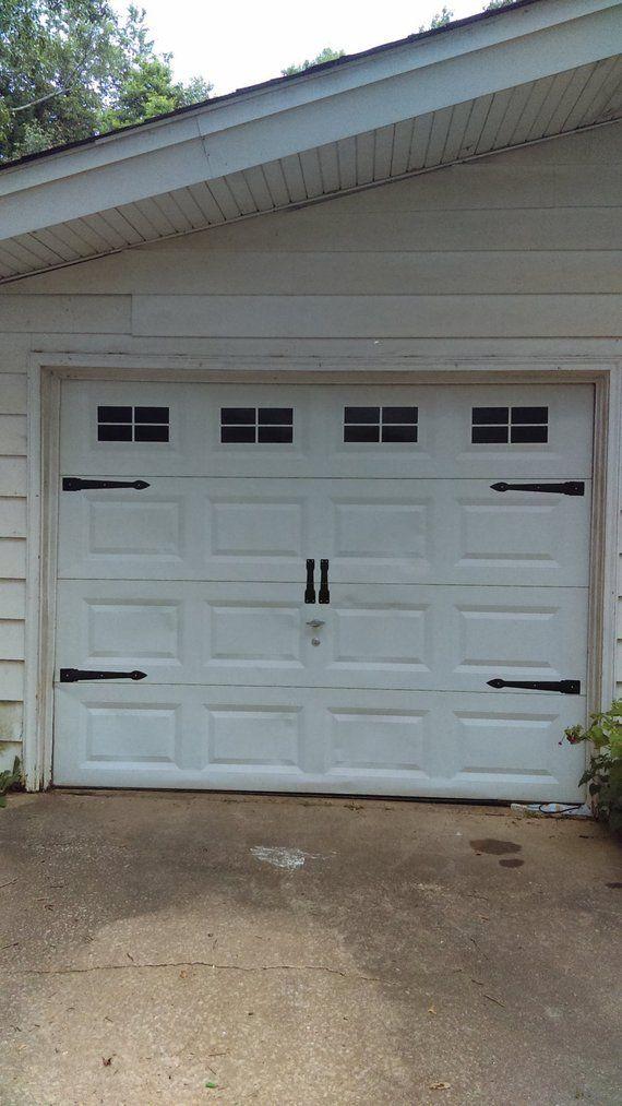 Carriage House Style Faux Windows Garage Door Vinyl Decals Etsy Garage Doors Garage Door Styles Unique Garage Doors