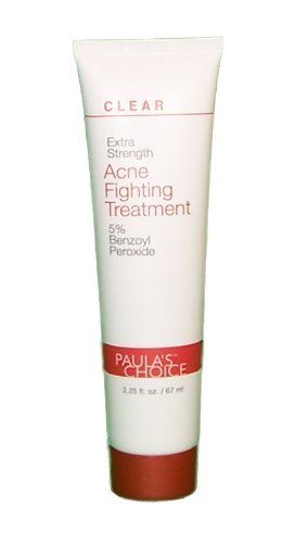 Paula's Choice CLEAR Line Extra Strength Acne Fighting Treatment ~ Moisturizer Lotion Cream Creme ~ 5% Benzoyl Peroxide 2.25 fl oz / 67 mL by Paula's Choice. $16.95. Persistent or stubborn acne has met its match thanks to Paula's Choice CLEAR Extra Strength Acne Fighting Treatment. This 5% benzoyl peroxide solution works instantly to eliminate acne-causing bacteria to stop blemishes in their tracks.   Unlike most benzoyl peroxide-based acne products, Paula's Choice...