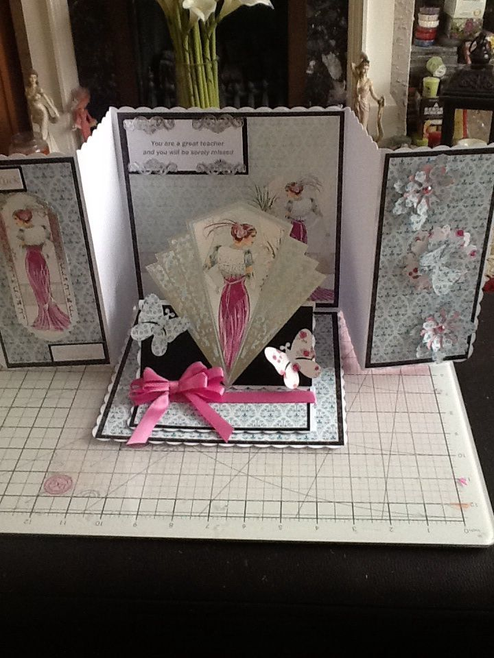 This card is made with card and toppers from Hunkydory