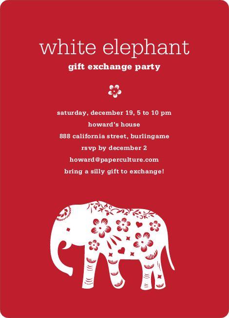 White elephant christmas gift rules