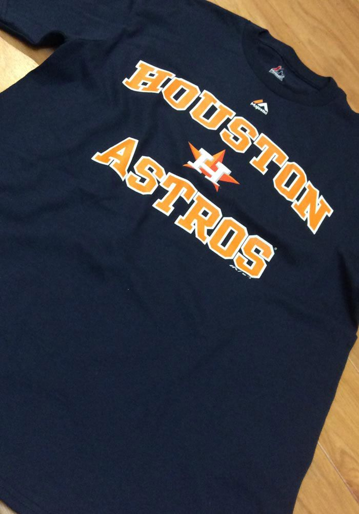 innovative design 5765c 884f9 Houston Astros Navy Blue Heart And Soul III Short Sleeve T ...