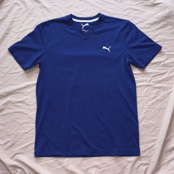 Puma Dry Cell Tee Mens Small Cotton Blend RN 62200 #fashion