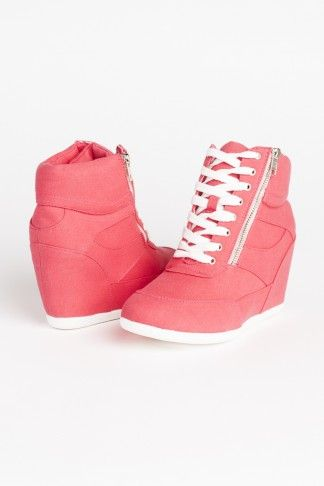 Fuchsia wedge sneakers - Heels + Wedges - Shoes