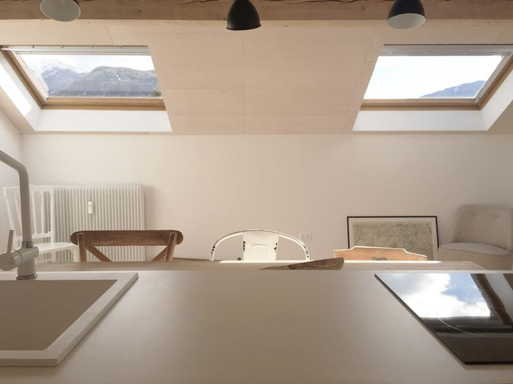 Italy-based firm Jab Studio designs minimal and rustic interior design for Loft Apartment overlooking mountain landscapes in South Tyrol!
