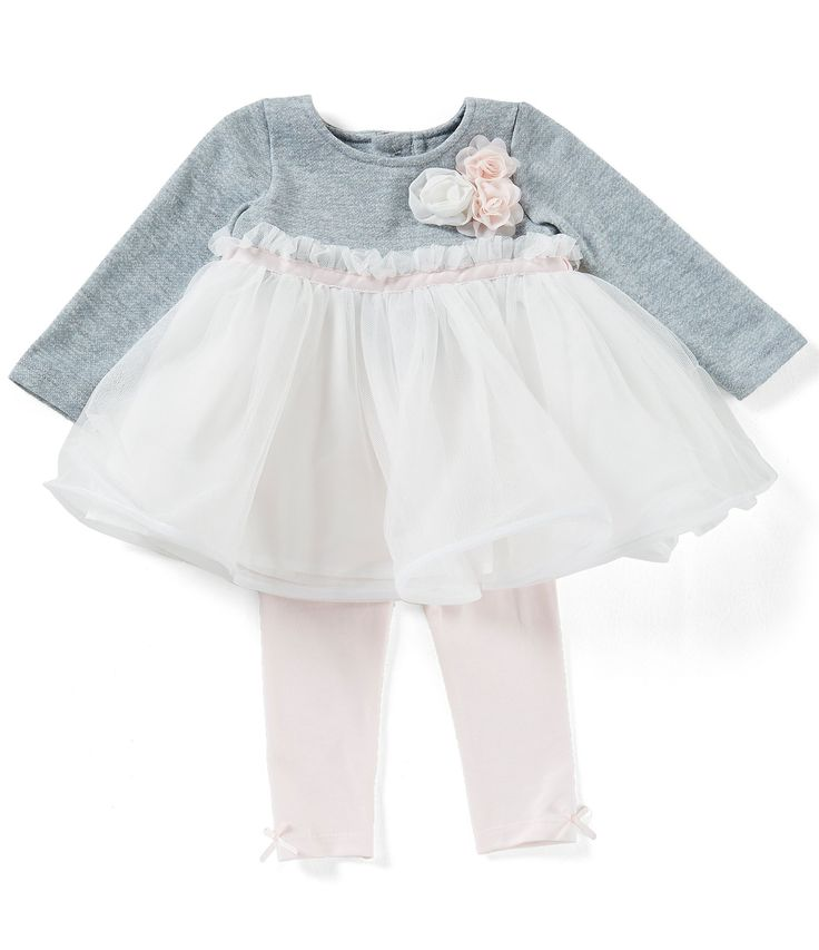 Edgehill Collection Baby Girls Newborn6 Months Rosette Tutu Top and Leggings Set #Dillards