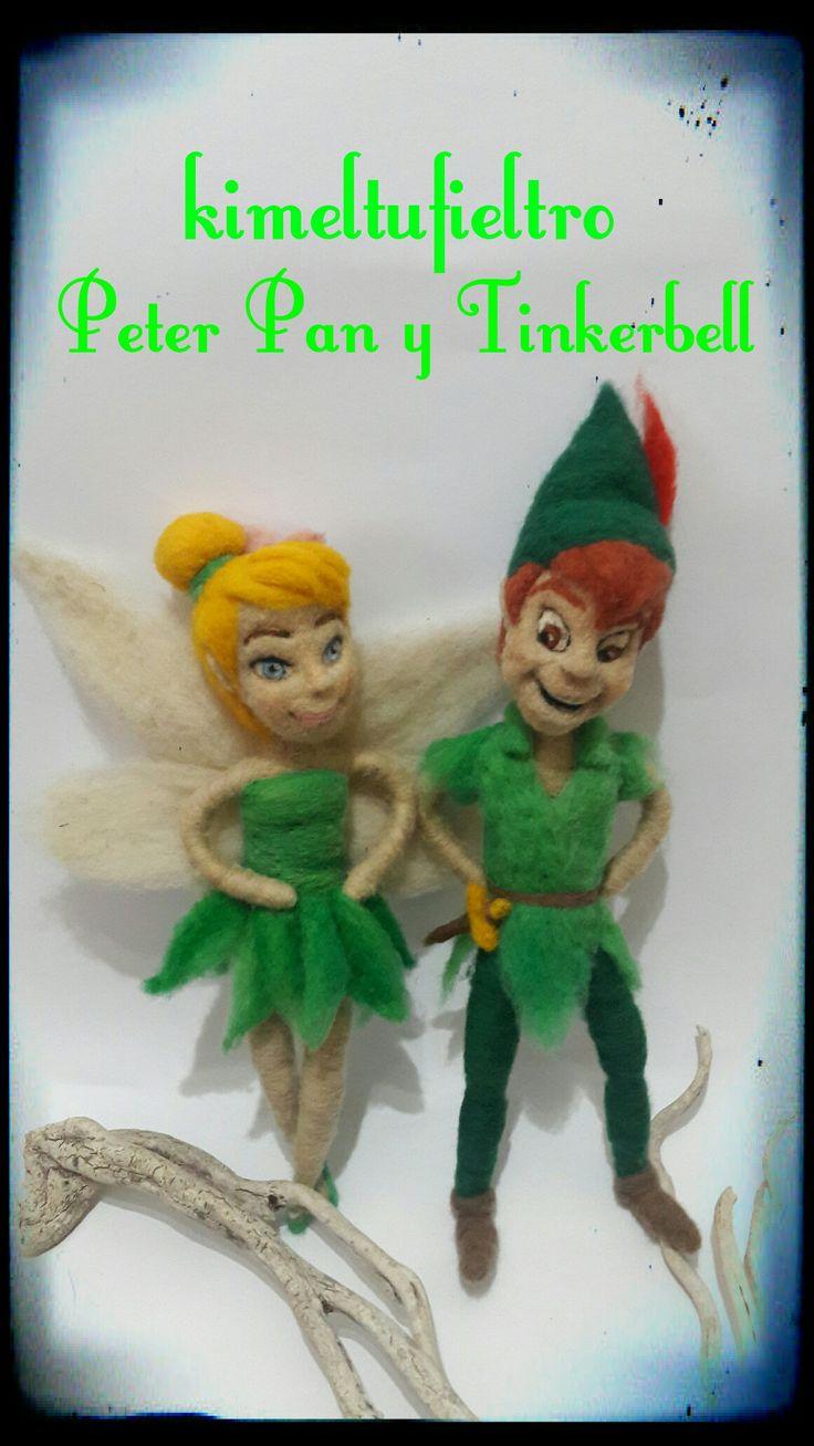 Tinkerbell y Peter Pan Felting agujado