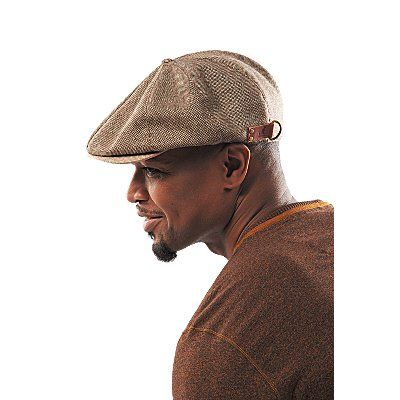 Kangol wool newsboy cap with contrast colored stitched down brim and  leather tab with d-ring and Kangaroo emb…  2ed21aea1bf