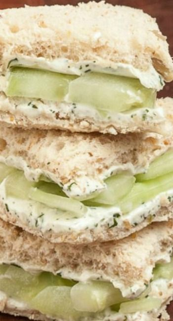 These Lemony Cucumber Cream Cheese Sandwiches are the perfect finger food for baby showers, bridal showers, birthday parties, and any gatherings.  Super refreshing and healthy!