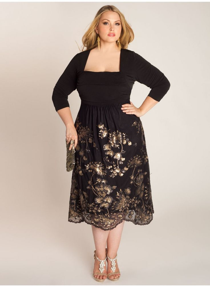 Gold Semi Formal Dresses for Plus Size Women