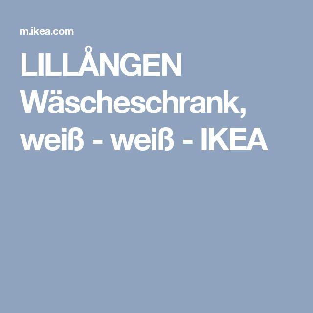 LILLÅNGEN Wäscheschrank, weiß - weiß - IKEA