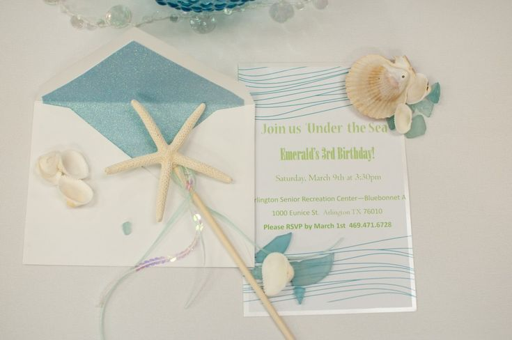 Under the Sea Mermaid Party - #kidspartyMermaid Parties, Birthday Parties, Sea Parties, Baby Birthday, Invitations Ideas, Parties Ideas, Birthday Ideas, The Sea, Sea Mermaid