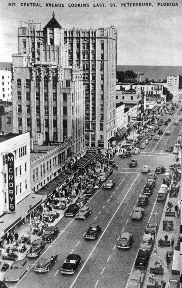 Central Avenue Looking East St Petersburg Florida 1940