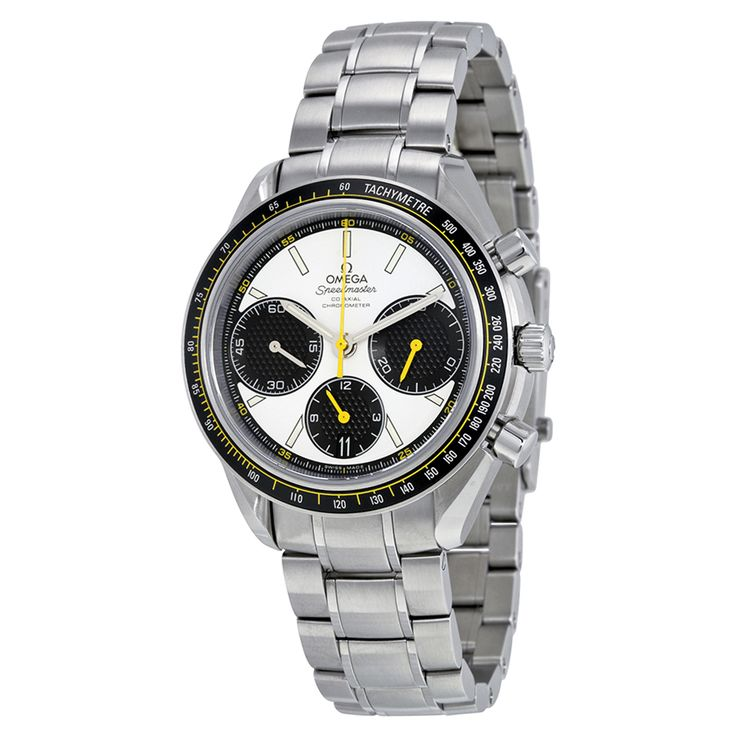 Omega Speedmaster Racing Co-Axial White Dial Stainless Steel Men's Watch 32630405004001 - Speedmaster - Omega - Shop Watches by Brand - Jomashop
