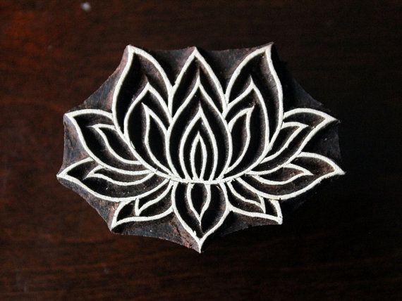Keramik-Stempel indische Holzstempel Tjaps von charancreations