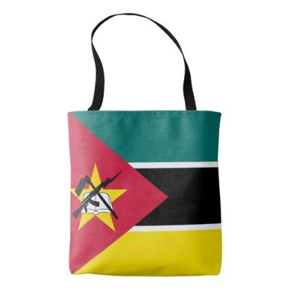 #Mozambique Flag Tote Bag - cyo customize design idea do it yourself