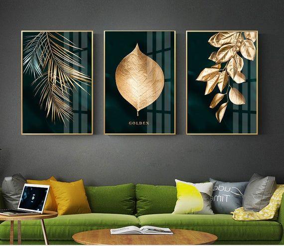 Modern Geometric Abstract Gold Grey Print Painting On Canvas Luxury Wall Art P Modern Living Room Interior Minimalist Living Room Design Minimalist Living Room