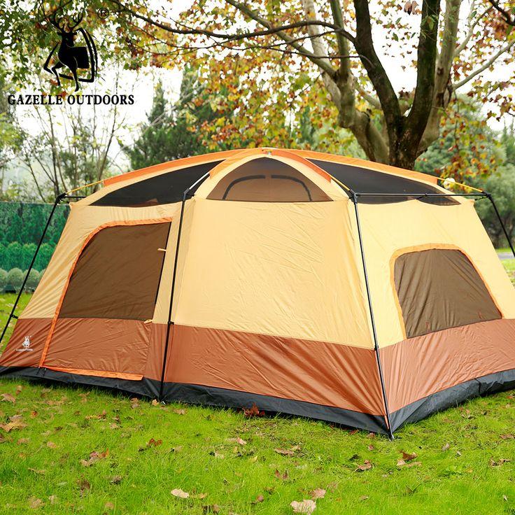 Large C&ing Tent Double Layer Family Tent Waterproof Gazebo 6-8person Fishing Tent Awning 2 & Více než 25 nejlepších nápad? na Pinterestu na téma Waterproof ...