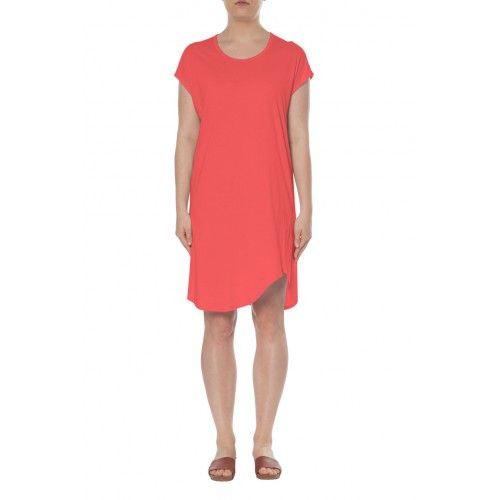 FELICITY Scoop Neck Dress - Coral