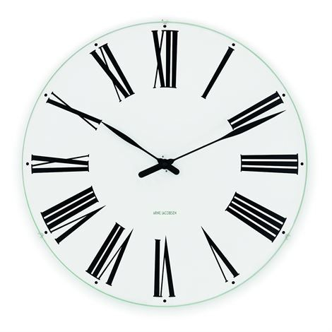 Arne Jacobsen roman wall clock from Rosendahl Copenhagen as a part of the Timepieces collection. Designed in 1942.