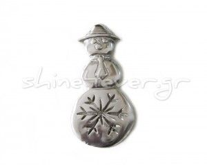 "A snowman, ""coated"" in silver!!! A ""shiny"" ornament for your christmas tree and a sparkling touch for your home!!"