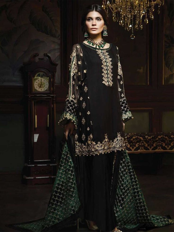 Buy latest black color pakistani salwar kameez suits online for women in UK, USA, Canada at lowest price from ZaraaFab. Get free delivery and returns possible on eligible shopping. #blacksalwarsuit #pakistanisalwarkameez #trendingdresses #shalwarkameez #ladiessuit #womenclothes #pakistanidress #dulhanwear #pakistaniwedding #asianwedding #pakistanifashion #pakistanistyle #partywear #onlineshopping #handembroidery #dresses