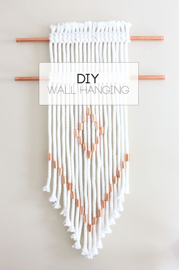 DIY Rope + Copper Wall Hanging   Everyday with Sarah