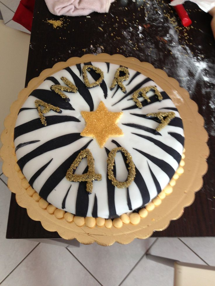 Torta Compleanno Juventus 40 Anni Torta Compleanno