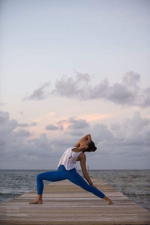 reverse warrior #yoga