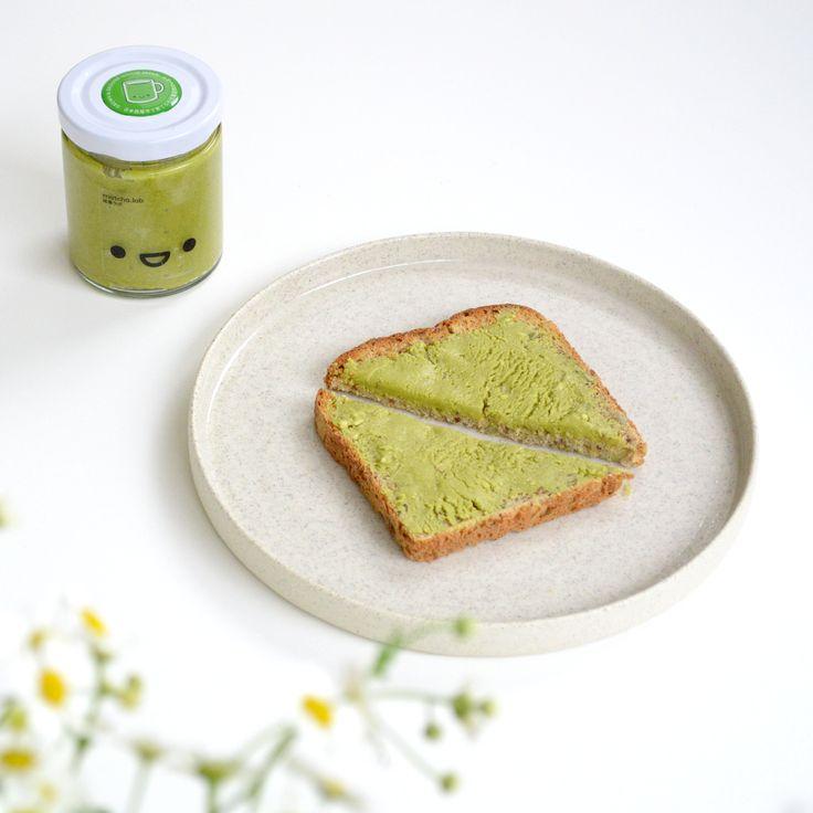 matcha nut butter on toast