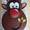 Rudolph the Rednosed Reindeer cake. Spectacular!