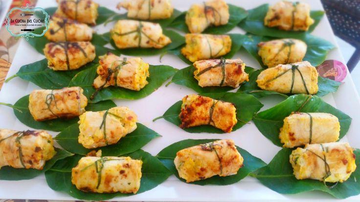 Involtini di pesce spada con zucchine e gamberi - La Cucina del Cuore | La Cucina del Cuore