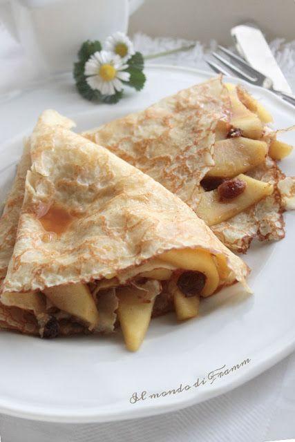 Crêpes integrali alle mele senza latte, nè uova, nè zucchero | Il mondo di Framm