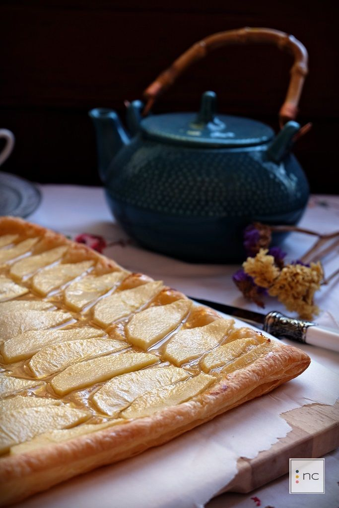 Tarta de manzana y crema