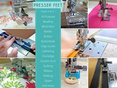 Using The Right Presser Foot Makes Sewing Easier, Faster, More Professional | Sew4Home