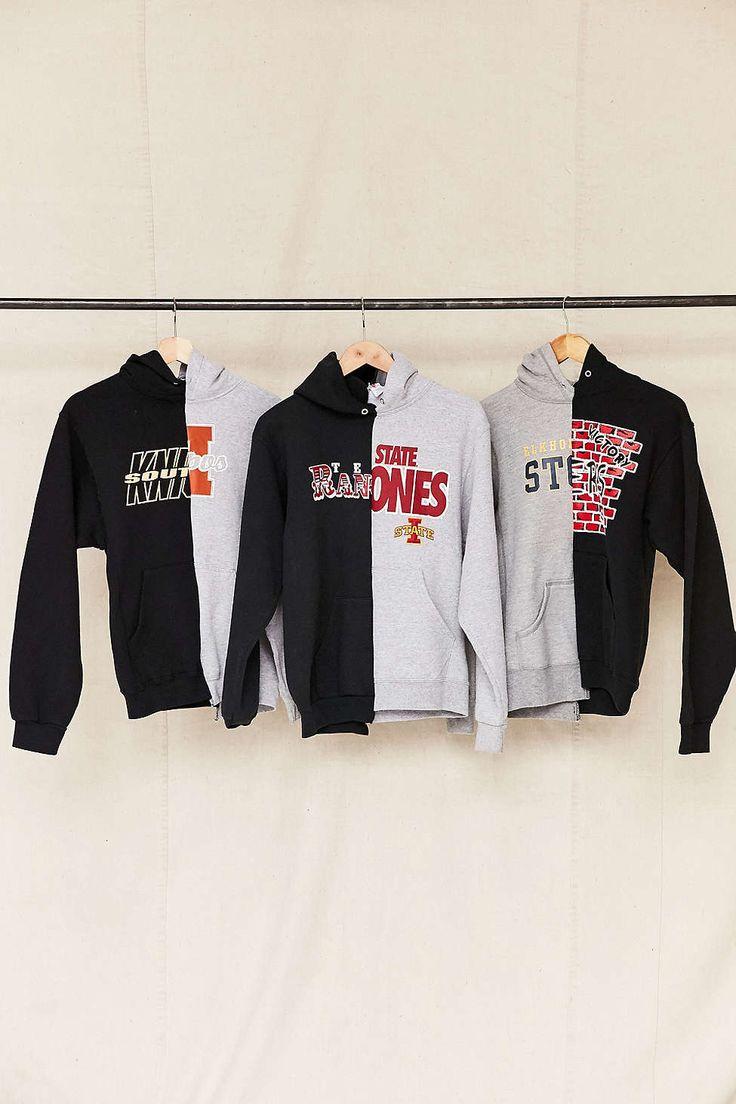 Urban Renewal Remade Spliced Hoodie Sweatshirt