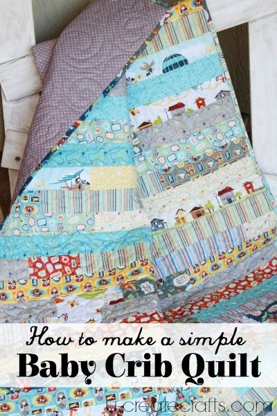 How to Make a Simple Baby Quilt - Tutorial featuring fabric from Kelly Panacci's Little Flyers collection #iloverileyblake