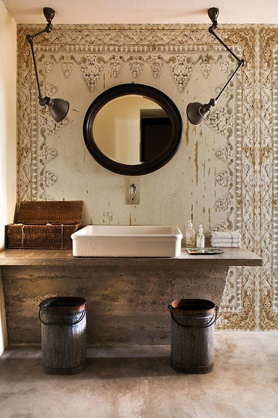 greige: interior design ideas and inspiration for the transitional home : creating interest with wallpaper...