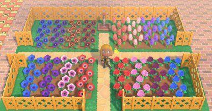 【Animal Crossing】Flower Field Ideas - How To Make A Flower ...