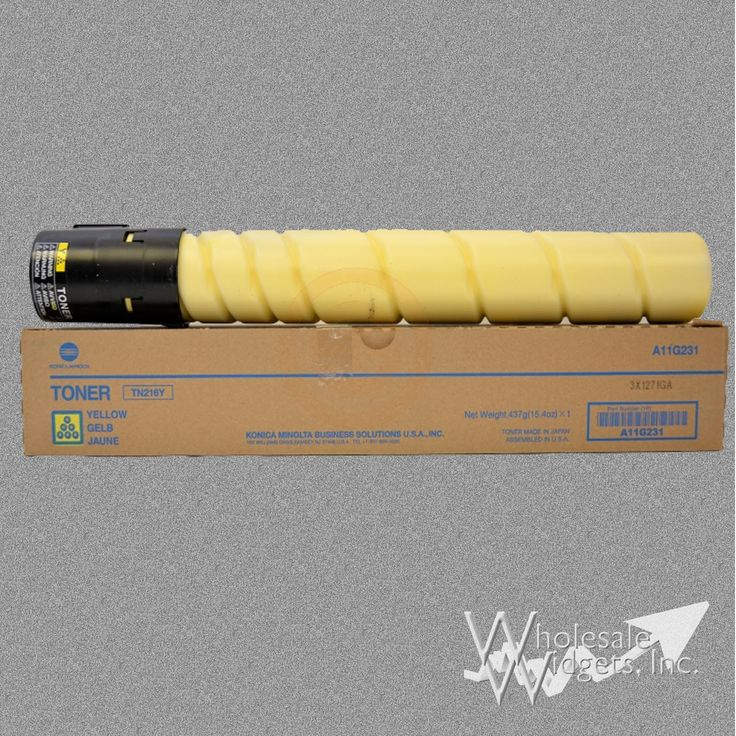 Konica Minolta TN216Y Yellow Toner For Use In bizhub C220, C280, A11G231, 26k page yield