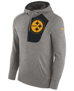 Nike Men's Pittsburgh Steelers Fly Fleece Hoodie - Gray XXL