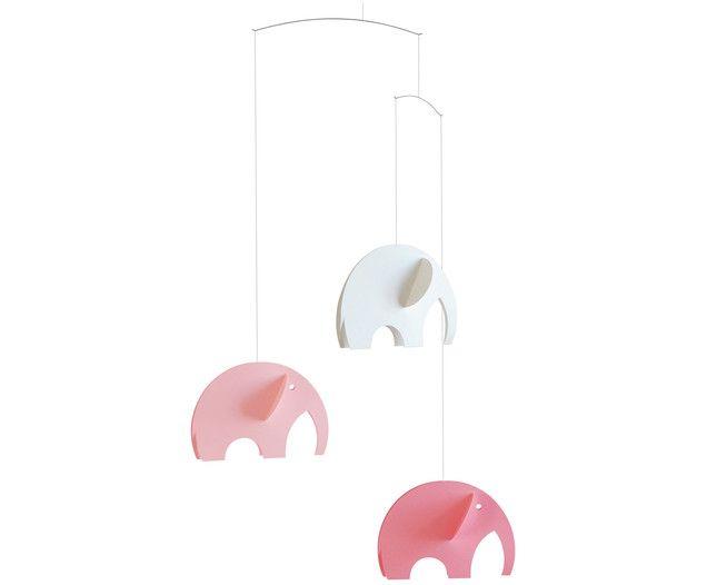 Machen Sie Ihren Kleinen mit einem ganz besonderen Accessoire zum Spielen und Einschlafen eine Freude: Das Mobile OLEPHANTS ist mit süßen pinken und weißen Elefanten bestückt. Da schaut Ihr kleiner Liebling garantiert gerne zu!