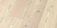 Thede & Witte Boston Lärche uniclic® Lärche astig gebürstet weiß geölt  Fertigparkett mit Qualität zum günstigen Preis!   #parkett #fertigparkett #landhausdiele #preiswert #günstig #qualität #eigenheim #wohnung #boden #bodenbelag #parkettboden