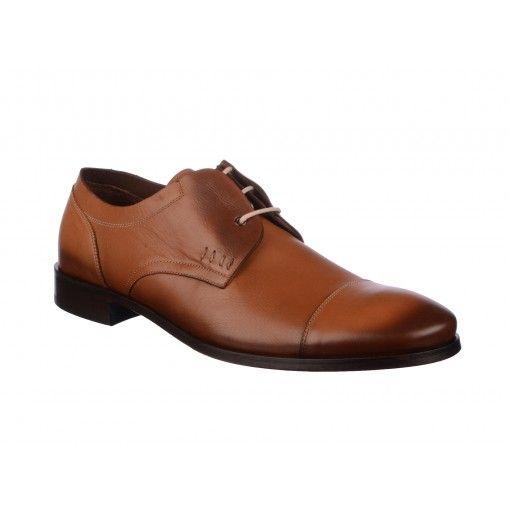 Pantofi Le Colonel coniac, din piele naturala