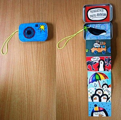Just the sweetest idea on earth!!! Camera Accordion book!!! Pictures on front, writing about pictures on back.
