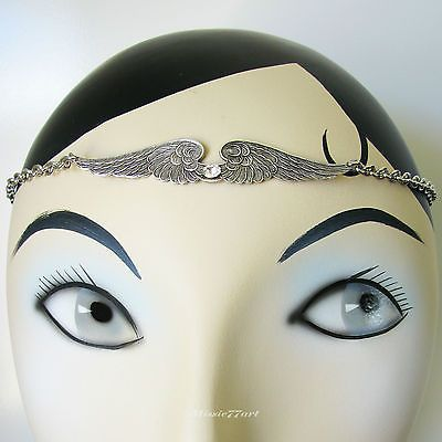 Silver plate Large Angel Wings Diamante Headpiece Christmas Headband by Missie77art Jewellery on ebay