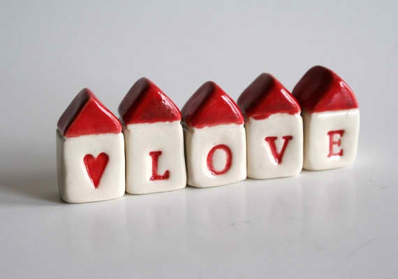 Cute little ceramic houses... love!